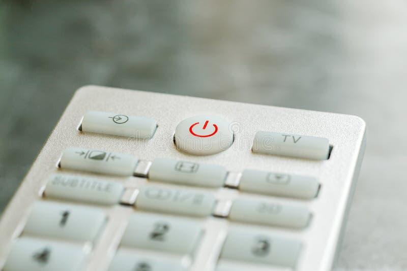 Macro tir de boutons à télécommande, profondeur de champ image stock