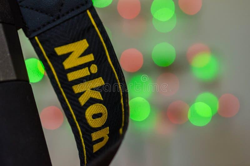 Macro tir de courroie d'appareil-photo de Nikon images stock