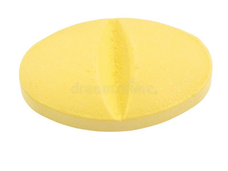 Macro tir superbe de médecine : pilules ou capsules sur le backgr blanc photo stock