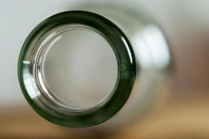Macro top view image of a bottleneck royalty free stock photography