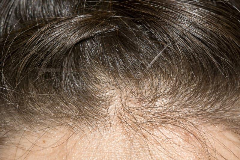 Macro trenzada del pelo imagen de archivo
