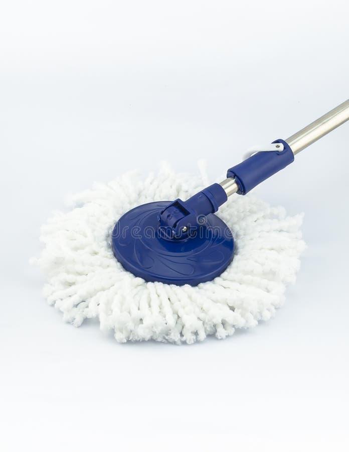 Macro van blauwe zwabber voor het schoonmaken stock foto's