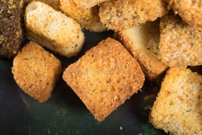 Macro van croutons stock foto