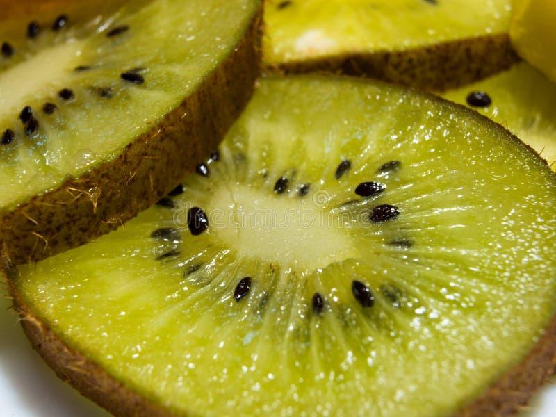 Macro van gesneden kiwivruchten stock foto