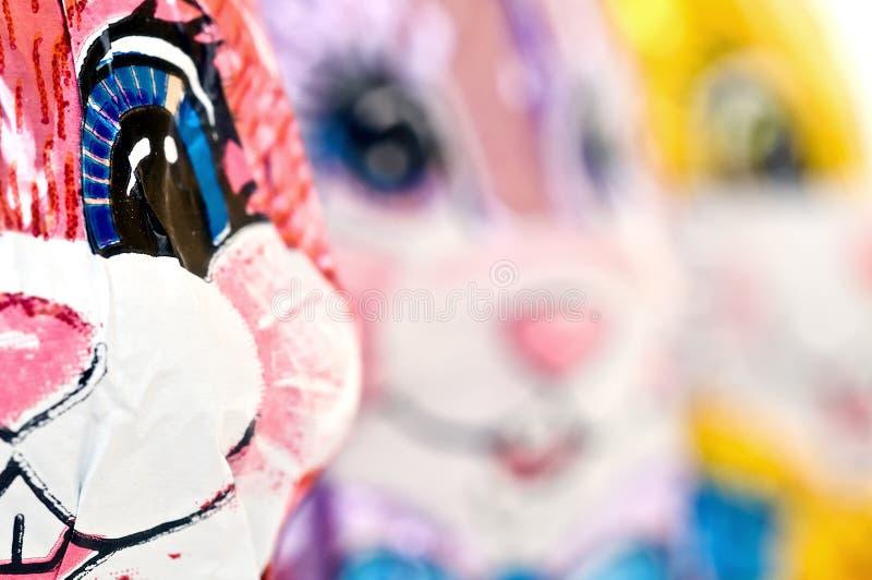 Macro van het Konijn van Pasen van de Chocolade stock afbeeldingen