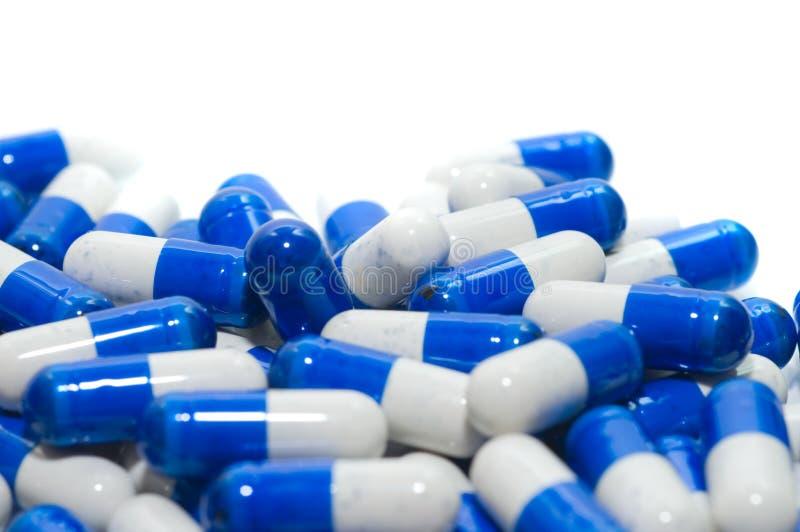 Macro van medische pillen stock afbeeldingen