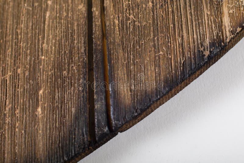 Macro van uitstekend droog gebrand hout voor achtergrond stock afbeeldingen