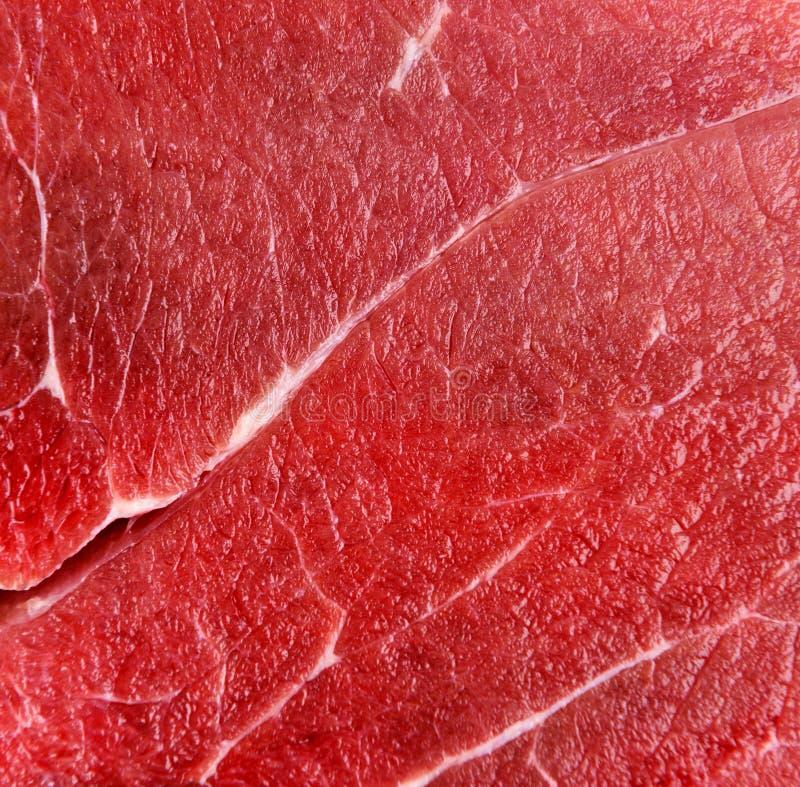 Macro vermelho cru da carne da carne fotografia de stock royalty free