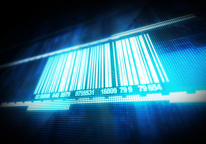 Macro view of bar code. Digitally generated image royalty free stock photos