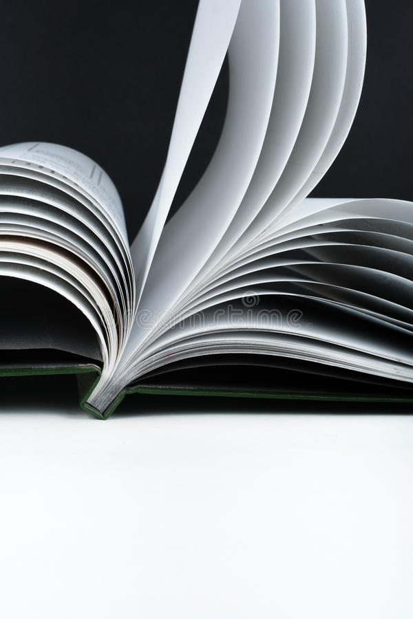 Macro view of book pages. Concept passion and fire, sail. stock photography