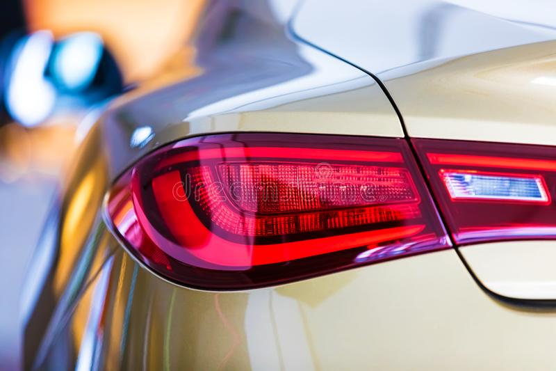 Macro view of modern car rear light stock photography