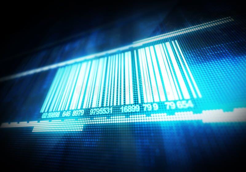 Macro vista del codice a barre fotografie stock libere da diritti