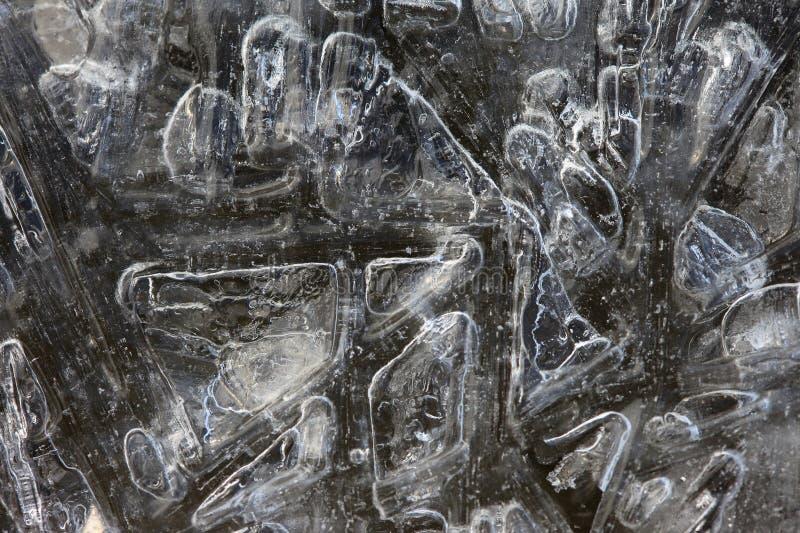 Macro vrai plan rapproché naturel de glace d'abstraction image libre de droits