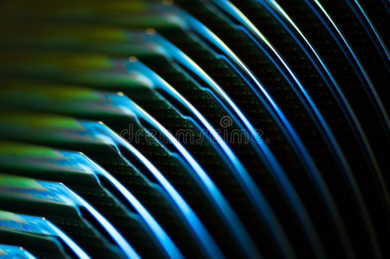 Macro wafer production. Macro of wafer in chip production, semiconductor royalty free stock photography