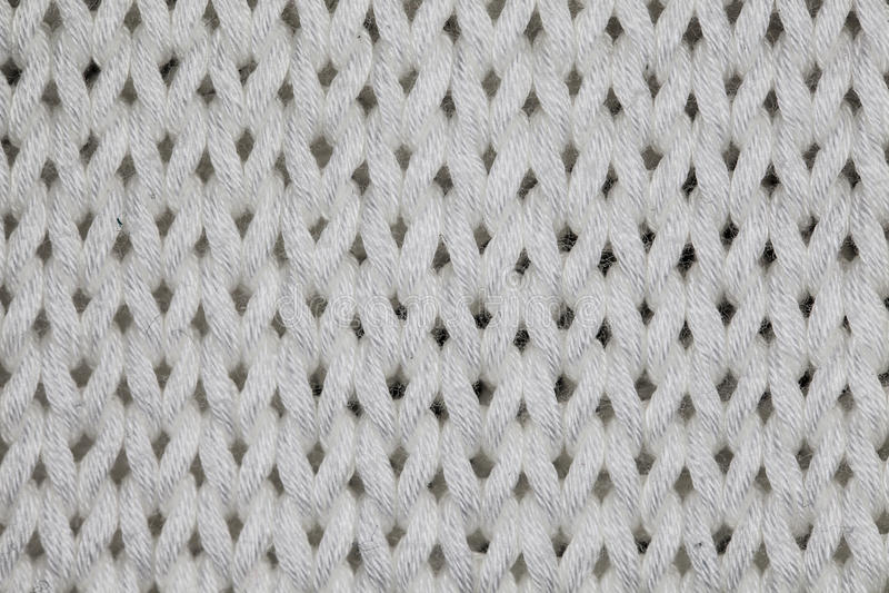 Macro witte sweater royalty-vrije stock foto's