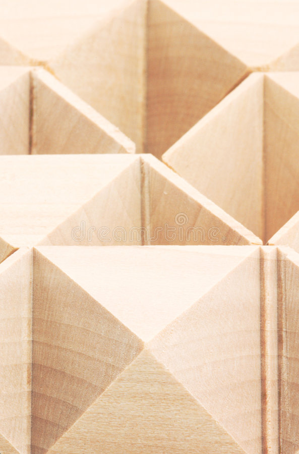 Macro of Wooden Puzzle Pattern royalty free stock photography