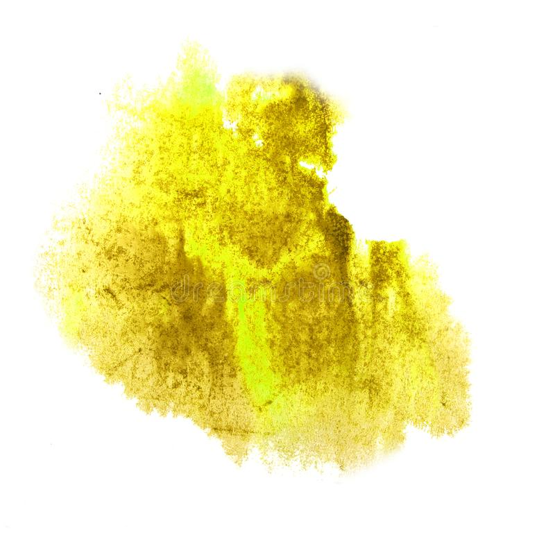 Macro The yellow spot blotch texture isolated on a white backgro. Und 2 royalty free stock photography