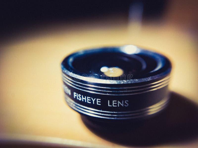 Macrobeeld van Fisheye-Lens Super Dichte Omhooggaand stock fotografie