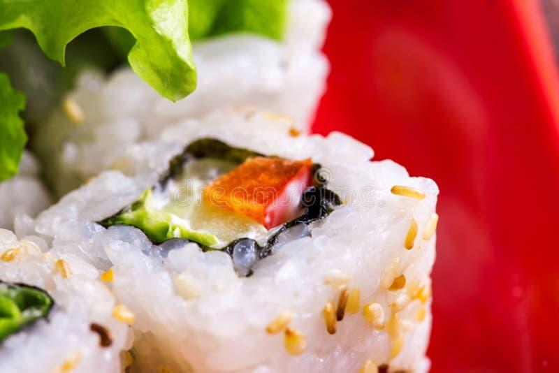 Macrofoto van broodje met groente stock afbeeldingen