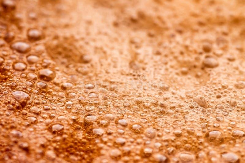 Macrofoto van de espressoschuim van de close-upkoffie royalty-vrije stock foto's