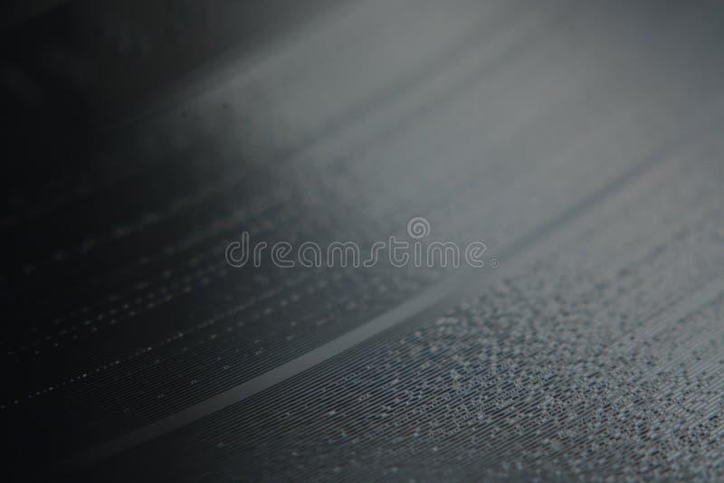 Macrofoto van een Vinylverslag royalty-vrije stock afbeeldingen