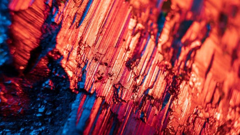 Macrofoto van pyrietkristal Gestapeld beeld royalty-vrije stock afbeeldingen