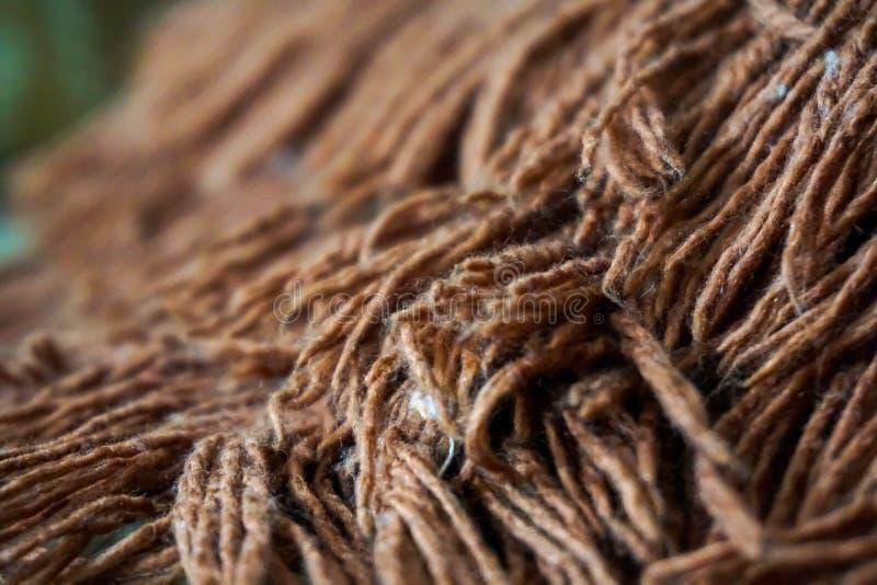 Macrofoto van wol van het tapijt royalty-vrije stock foto's