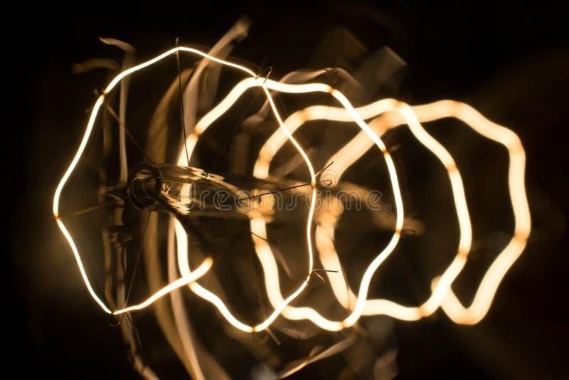 Macrolamp Edison stock afbeelding
