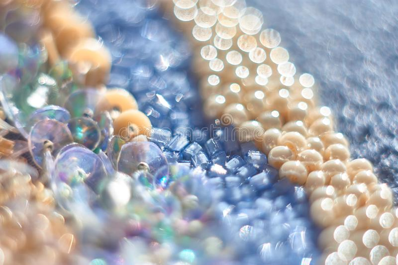 Bead with gentle abstract bokeh background. Macrophotography bead with gentle abstract bokeh background stock photo