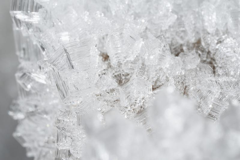 Crystals of ice stock images