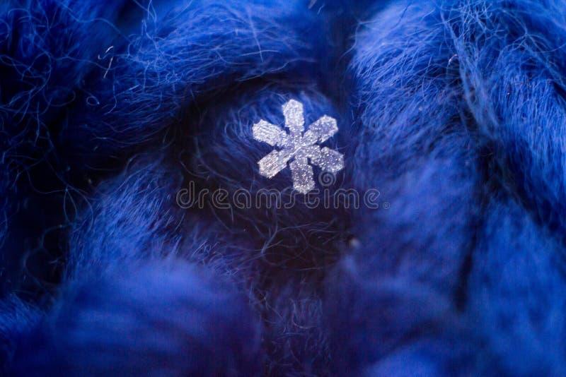 Large Snowflake Designed Scarf Blue