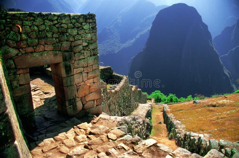 Macu Picchu Ruins stock photo