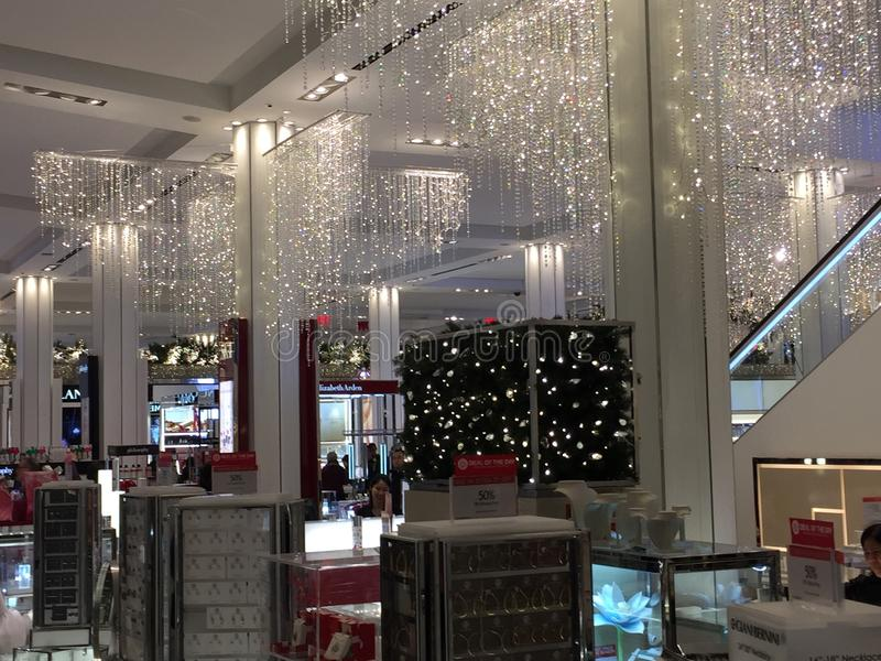 Macy' флагманский магазин квадрата глашатого s в Нью-Йорке стоковая фотография rf