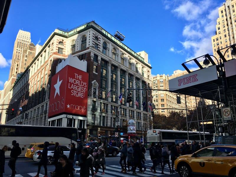 Macy NY, världens största lager fotografering för bildbyråer