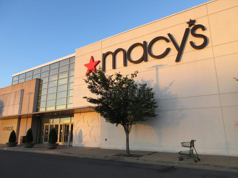 Macy`s Department Store at Sunset royalty free stock image