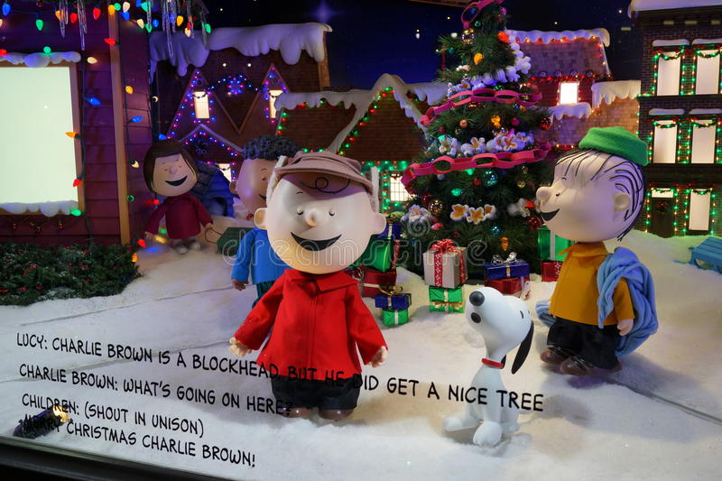 Macy's Holiday Windows 2015: The Peanuts Gang 1. Since Macy's sparked the Christmas window tradition in the early 1870s, New York City's most stock photography