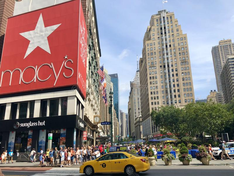 Macy`s store in New York City royalty free stock photography