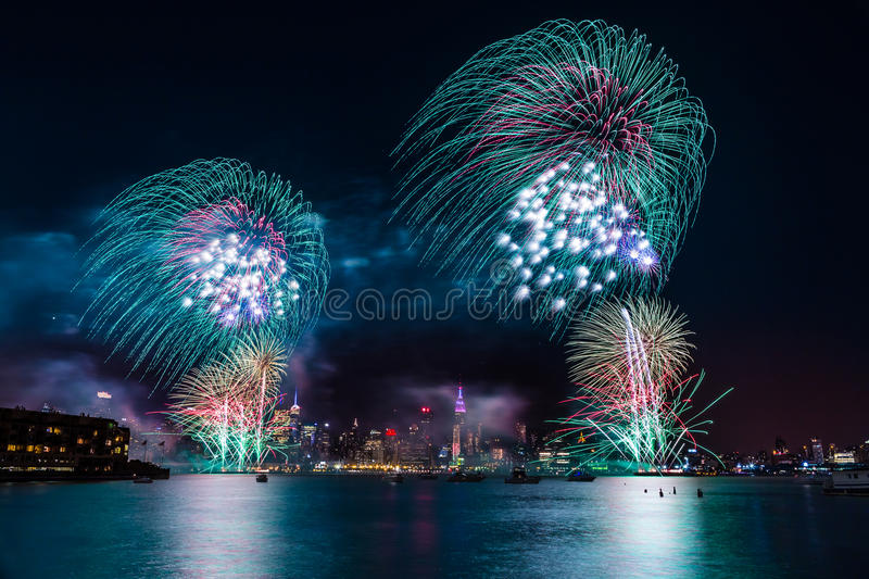 Macy's 4th of July Fireworks royalty free stock images