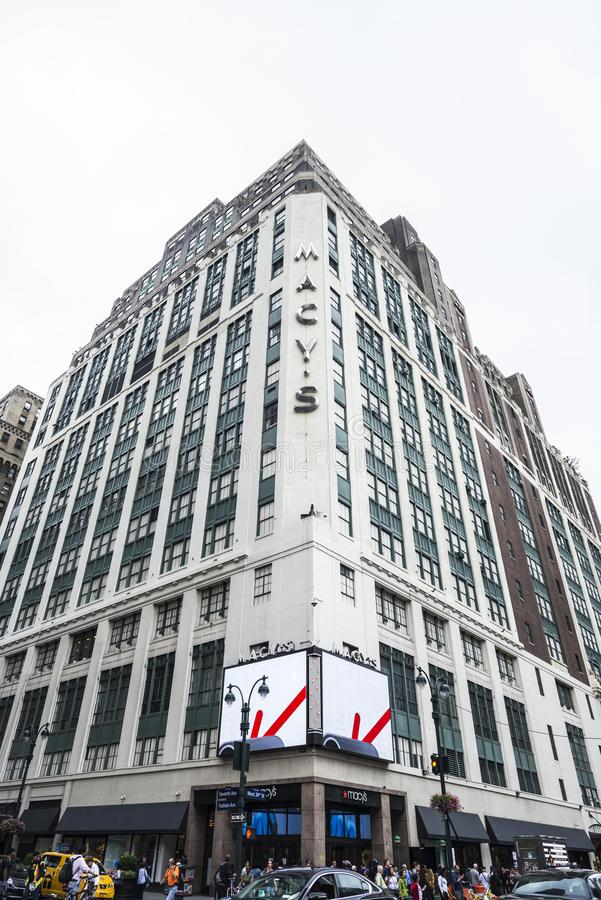 Macy varuhus i New York City, USA royaltyfria foton