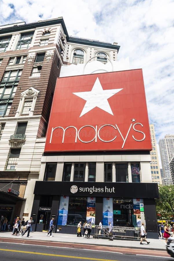 Macys-Kaufhaus in New York City, USA stockbilder