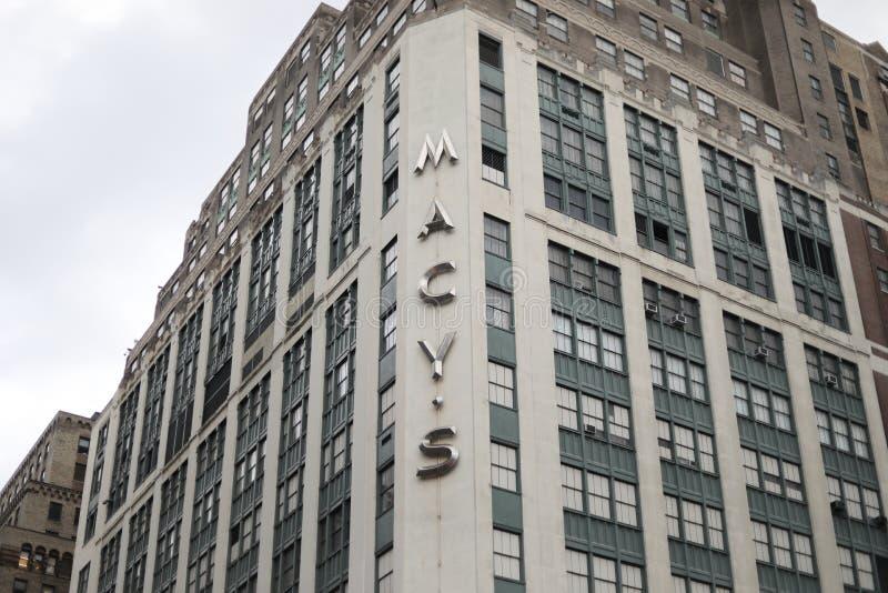 Macys-Speicherfassade stockfoto