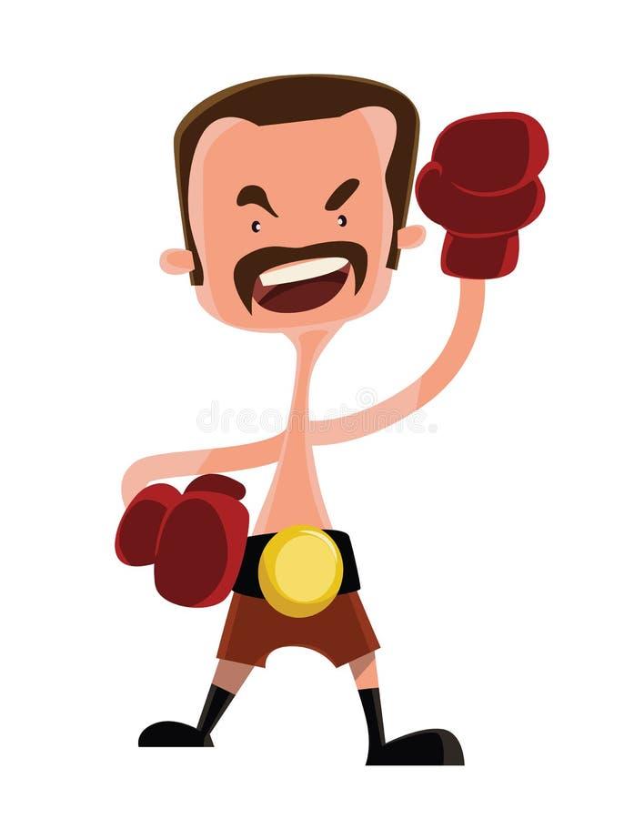 Mad boxer fighter illustration cartoon character stock illustration