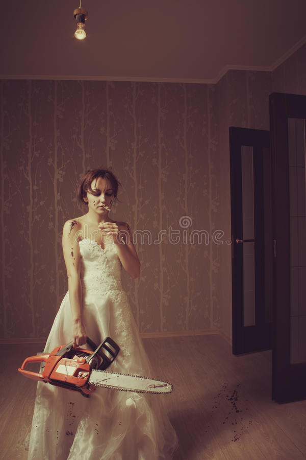 Download Mad bride stock image. Image of fear, attractive, chain - 28082521
