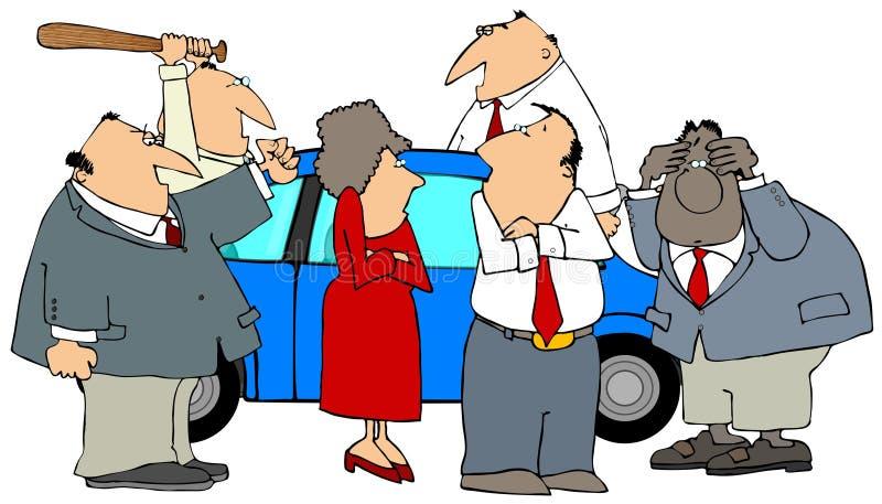 Download Mad At A Car stock illustration. Illustration of female - 3355619