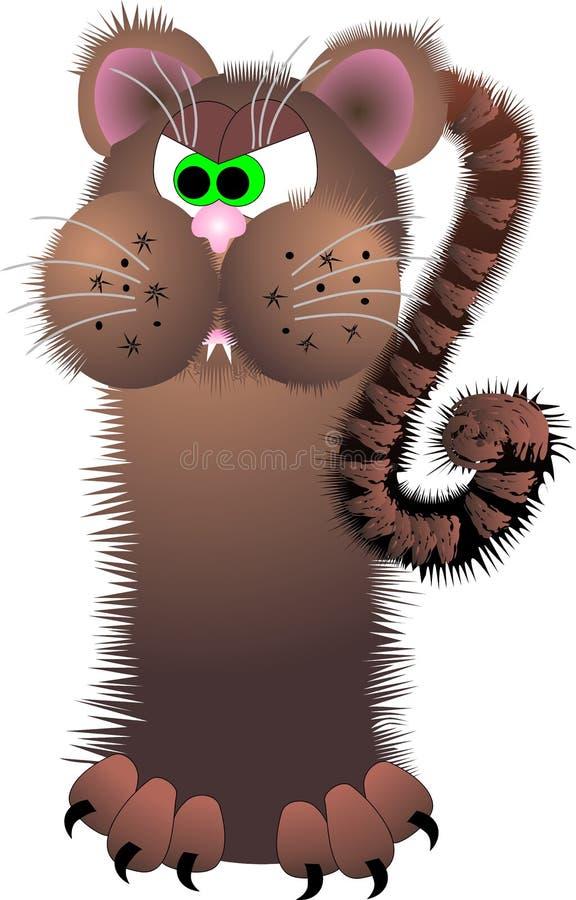 Mad cat royalty free stock photos