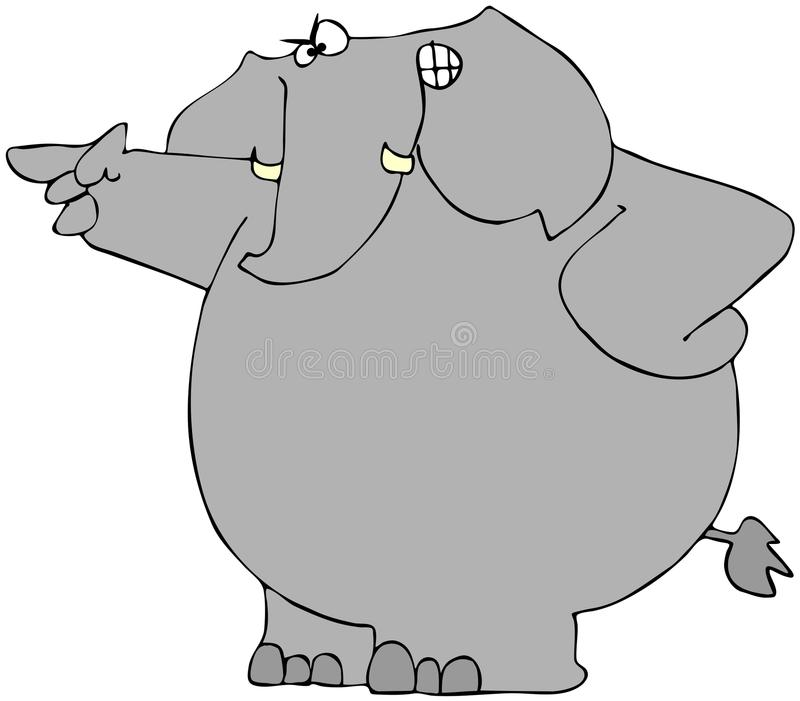 Download Mad Elephant stock illustration. Image of trunk, irate - 18672836