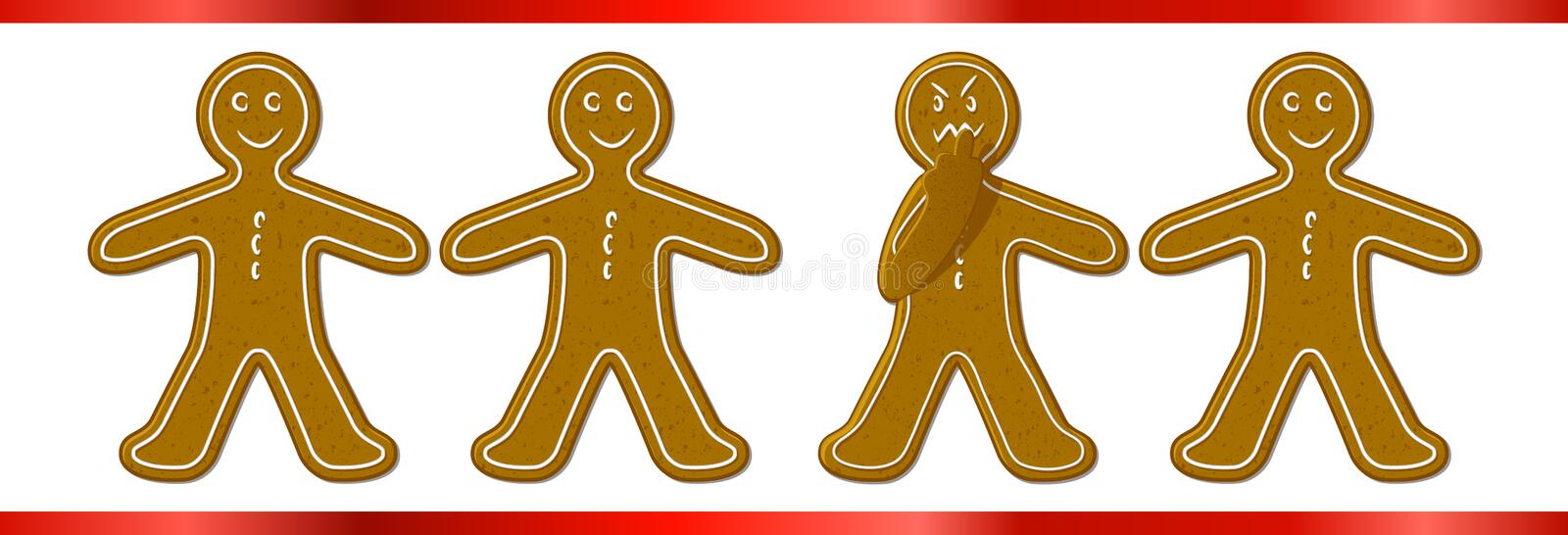 Download Mad Ginger Bread Man stock vector. Image of happy, hate - 28126256