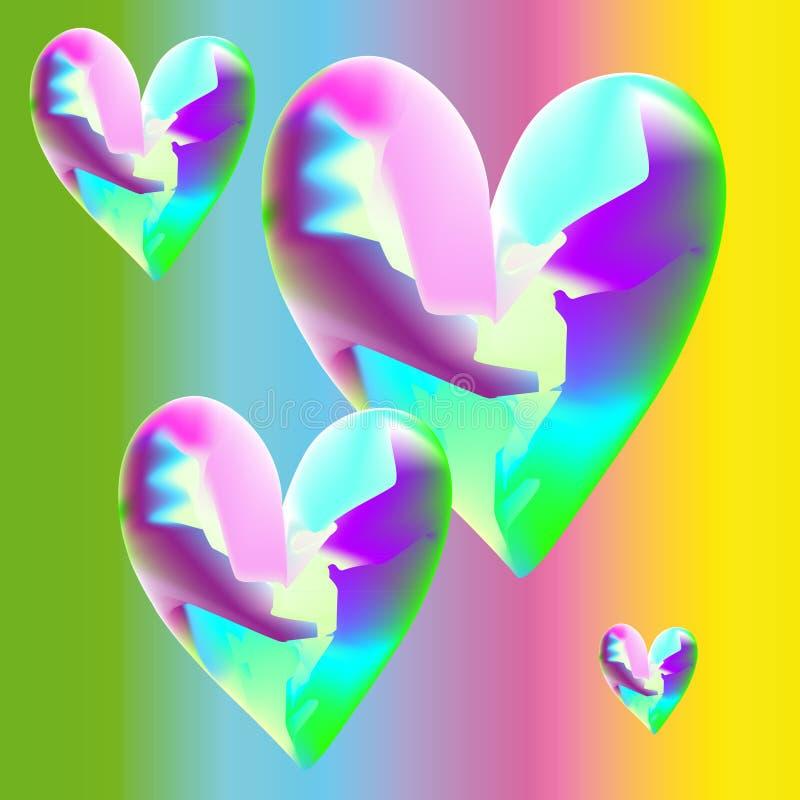 Mad hearts stock photo