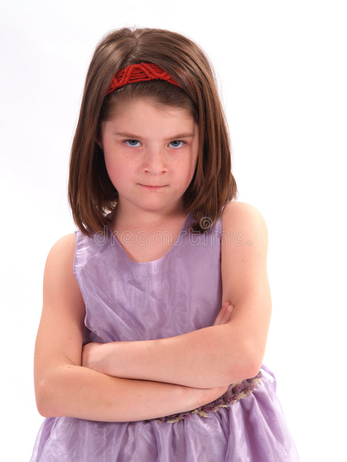 Mad Little Girl stock images