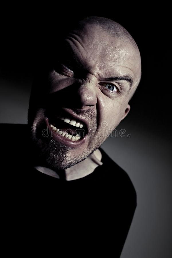 Mad man screaming royalty free stock image